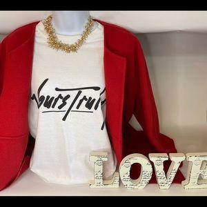 Eileen Fisher red jacket